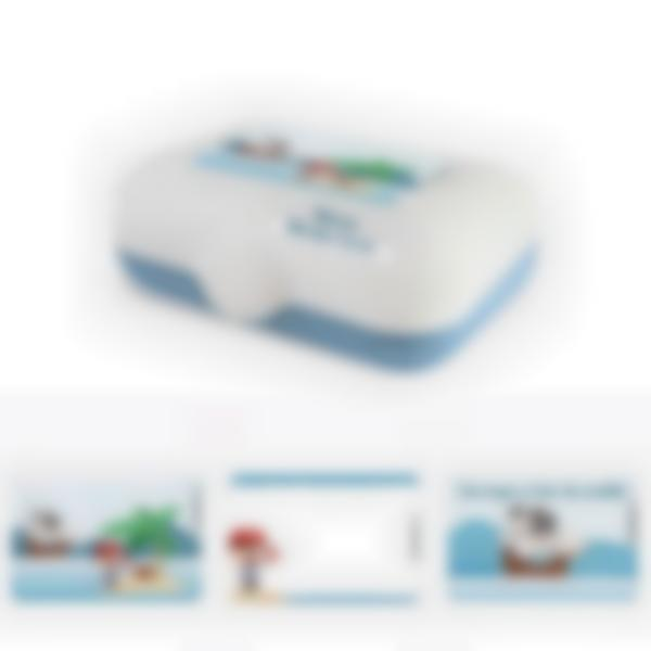 Ludibox - Fiambrera personalizada azul – Pirata