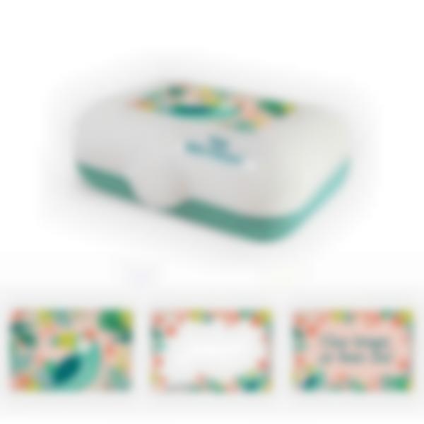 Ludibox - Fiambrera personalizada verde – Tropical