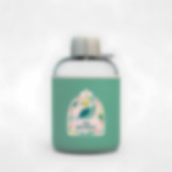 Cantimplora isotérmica personalizada verde – Tropical