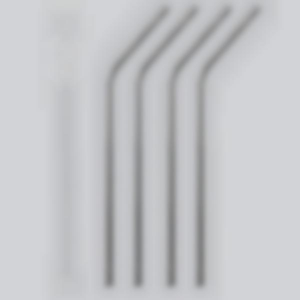 Pajitas reutilizables de acero inoxidable - conjunto de 4