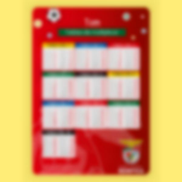 Póster personalizado - Tablas de Multiplicar - Benfica