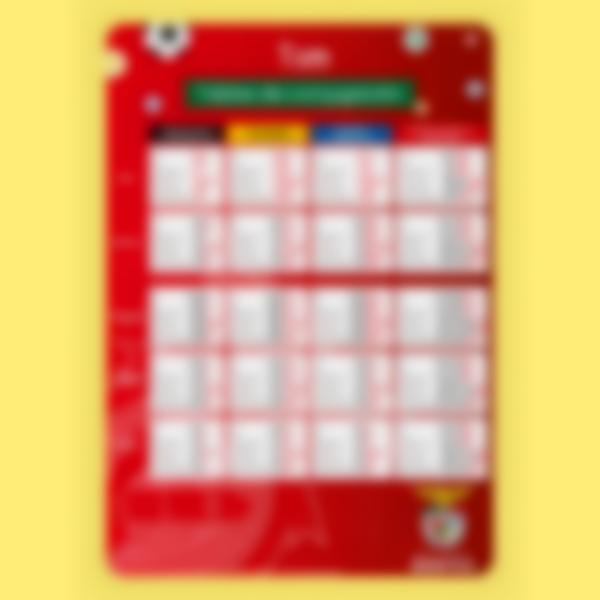 Póster personalizado - Tablas de Conjugación - Benfica