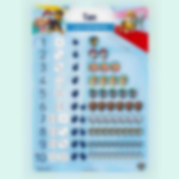 Poster educativo - Los números - Paw Patrol