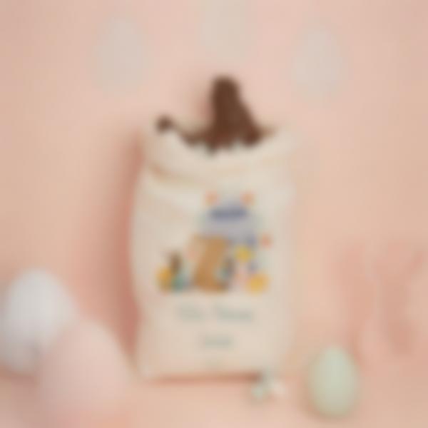 Saco de Pascua para la búsqueda de huevos de chocolate