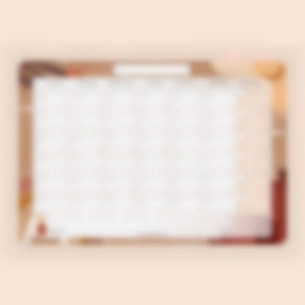Calendario Mensual borrable magnetico - Terracota