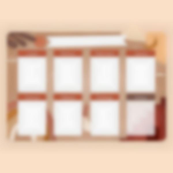 Tablero Calendario Semanal magnetico - Terracota