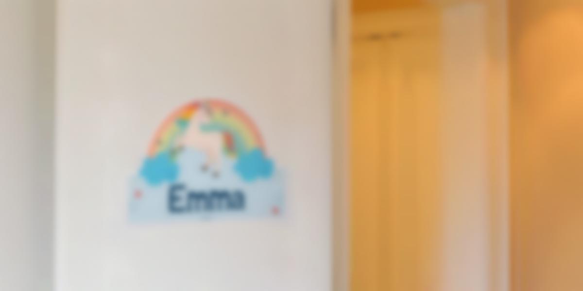 Placa infantil adhesiva para puertas del dormitorio de los niños