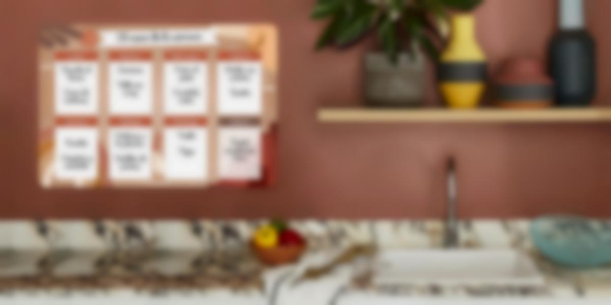 Descubre el calendario menú semanal!