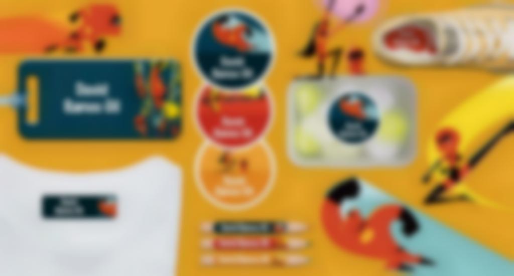 etiquetas disney de los increibles 2