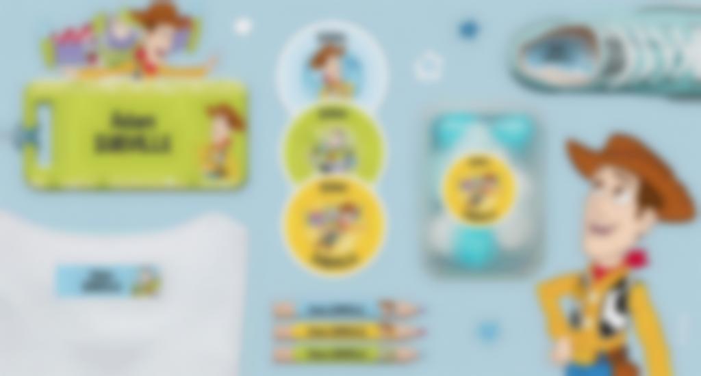Las etiquetas personalizadas Toy Story