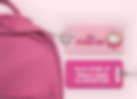 Etiqueta Hello Kitty para maleta plástico reforzado ultra resistente