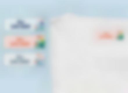 etiquetas nombre con plancha tropical