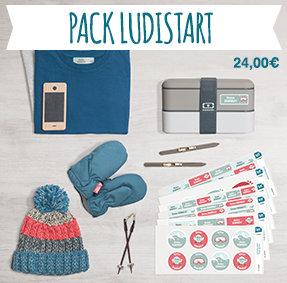 El pack Ludistart contiene un surtido de todas nuestras etiquetas para marcar los objetos y la ropa de los pequeños y de los adultos