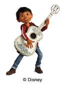 ilustración Disney Coco por las etiquetas nominativas