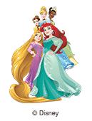ilustración Disney princesas por las etiquetas nominativas